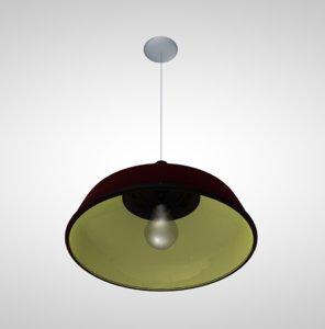 metal ceiling light hanging 3D model