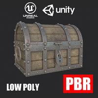 3D treasure chest pbr