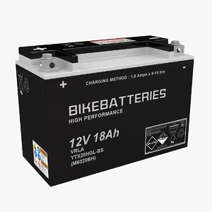motorcycle battery 3D