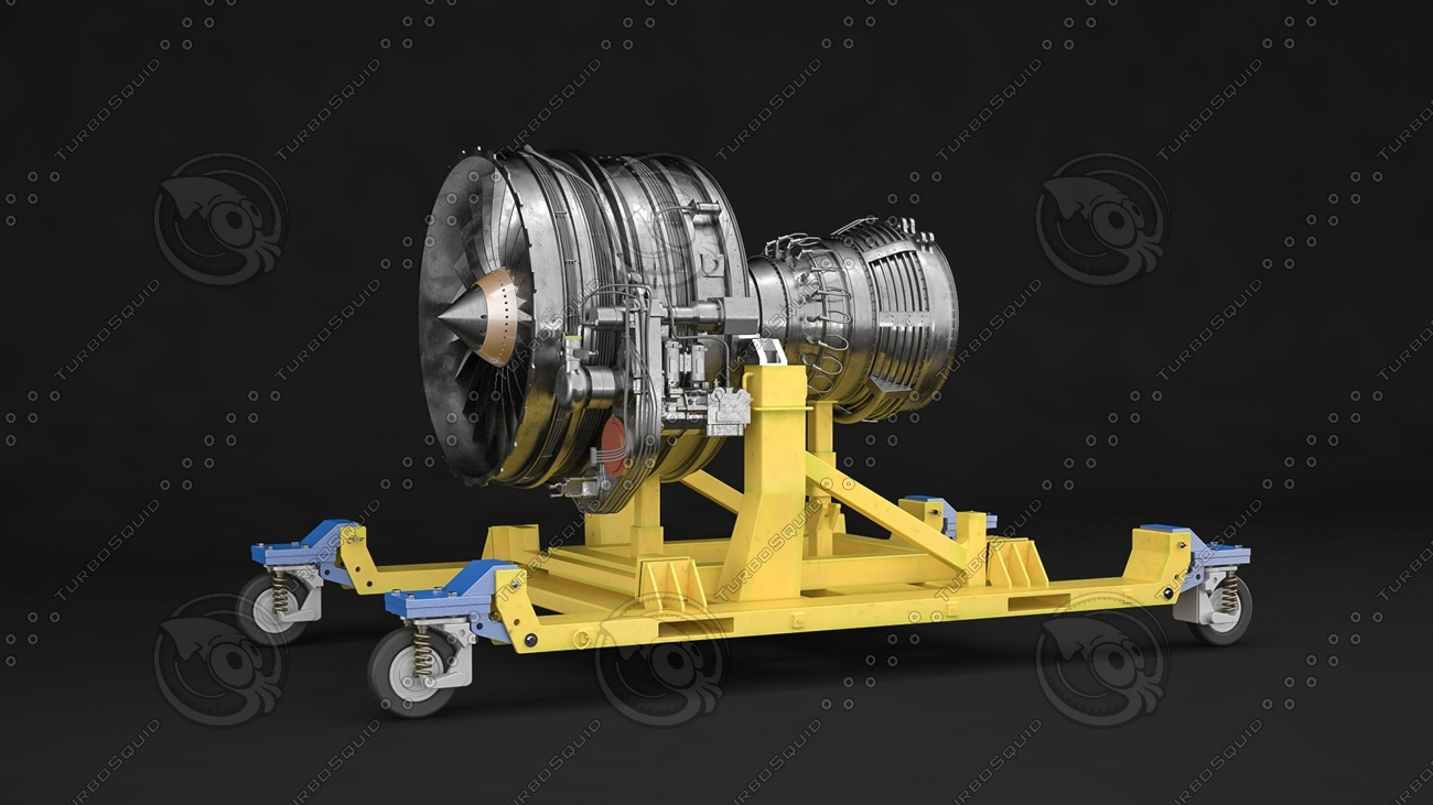 c4d cfm56-7b engine complete internal
