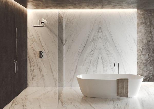 bath carrara 3D model