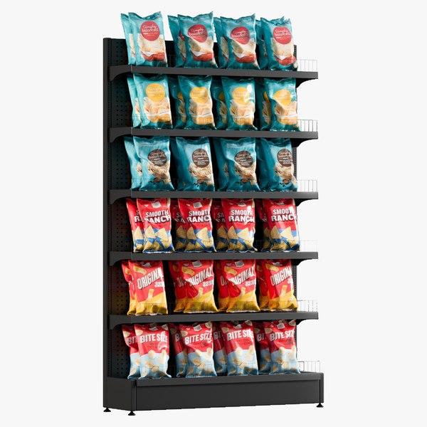 chips shelving 3 3D model
