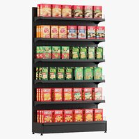 3D model crackers shelving 1
