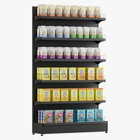 crackers shelving 2 3D model