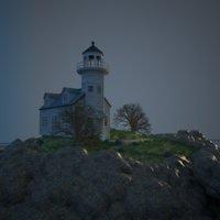 house islands lighthouse 3D model