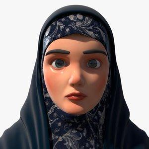 cartoon arab woman 3D