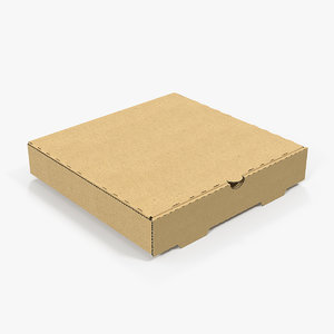 carton pizza box 3D model