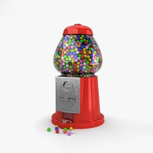 gumball machine gum 3D