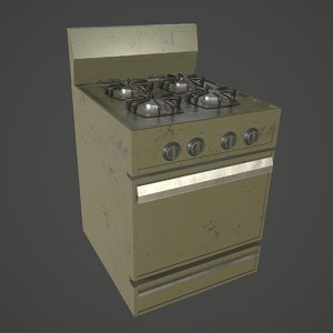 stove asset blender 3D model