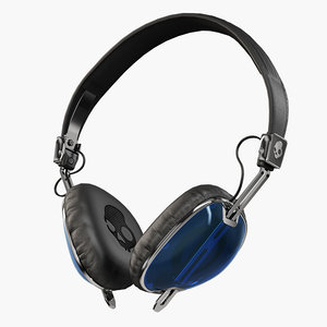 skullcandy navigator royal blue 3D model