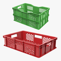 Plastic Crates 3D Models Collection