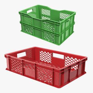 plastic crates 3D