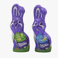 3D milka chocolate bunnies