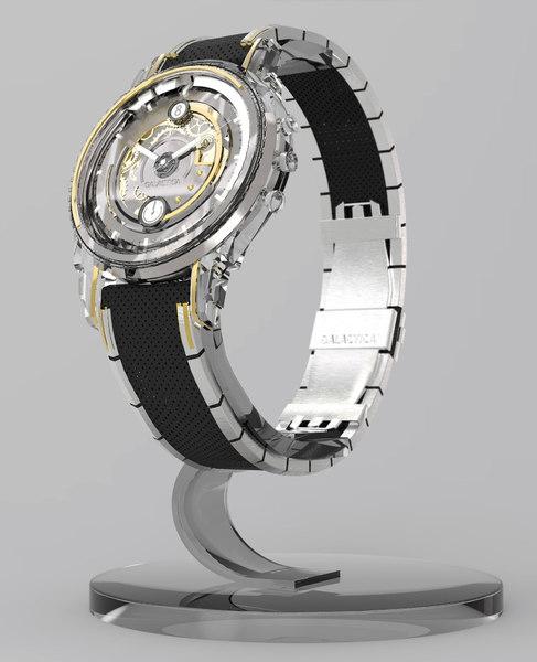 swiss watch 3d 3ds