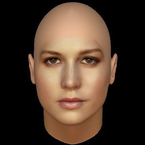 3D woman face model