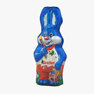 3D kinder chocolate bunny