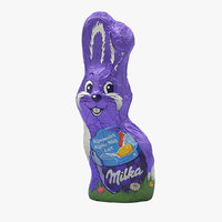 3D milka chocolate bunny model