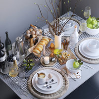 Table setting with brunches