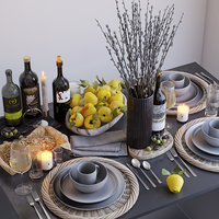 table setting 3D model