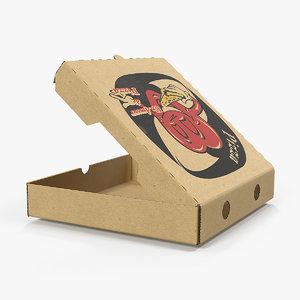 medium size open pizza 3D