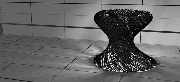 3D norkds modina steel lamp