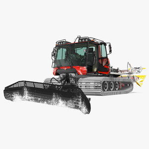 3D pistenbully 100 snowcat snow