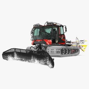 3D pistenbully 100 snowcat snow