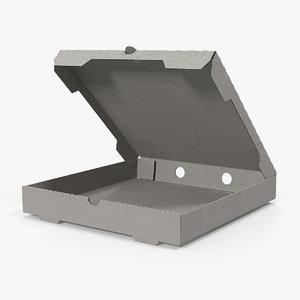 3D paper pizza carton box model