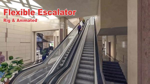 3D flexible escalator