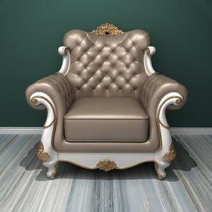 3D deluxe single sofa model