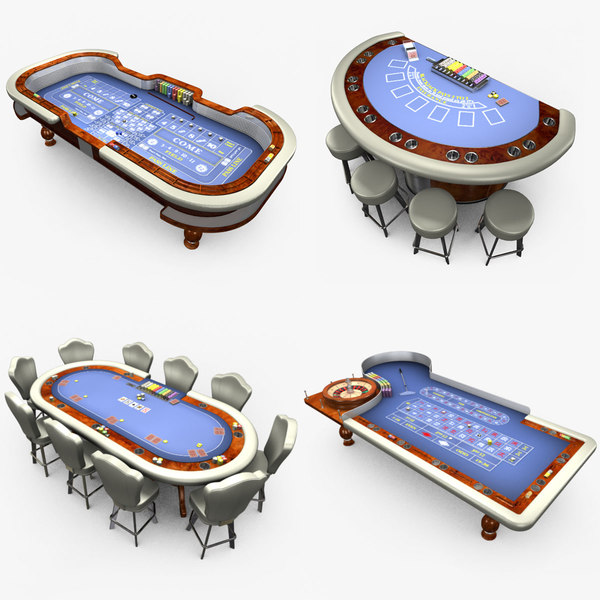 casino poker table - 3D model
