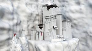 3D basic ruined empire model