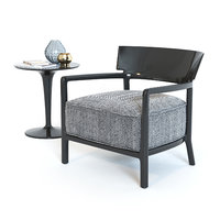 Cara Fancy armchair and Tip Top table by Kartell
