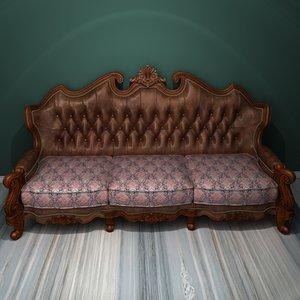 3D deluxe multi-seater sofa