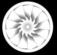 francis turbine 3D model