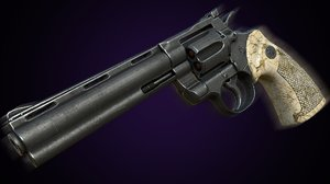 3D revolver colt anaconda model