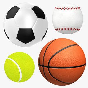 sport balls 3D model