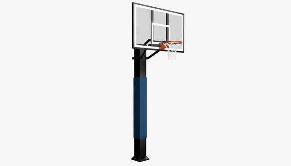 3D street basketball hoop
