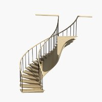 3D spiral staircase model