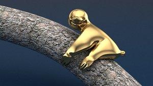 sloth ring jewels 3D model