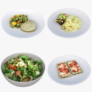 vegetables meal food model