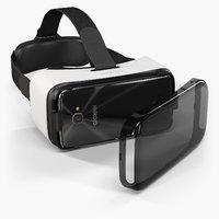 3D model alcatel vr goggles idol