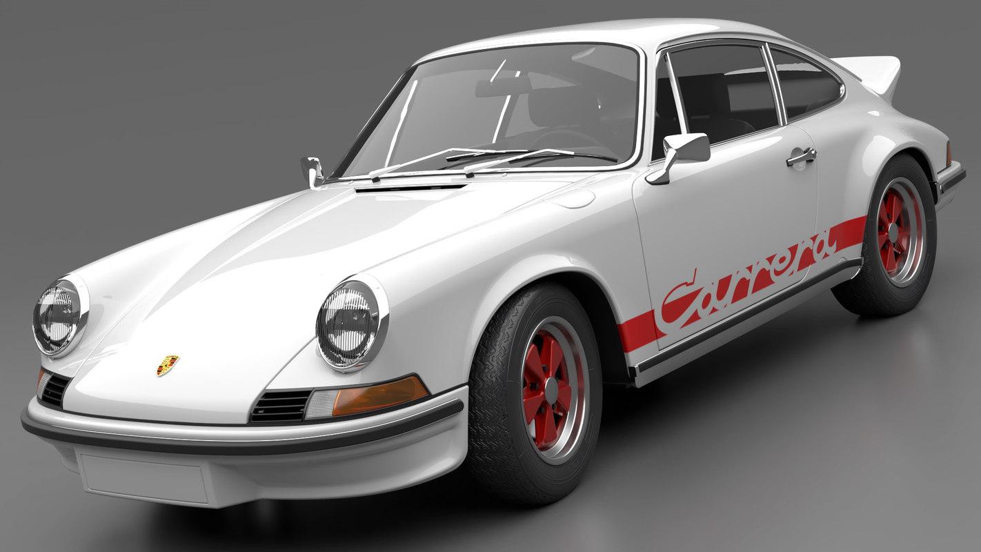 3D porsche 911 carrera rs