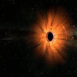 scene black hole m87 3D model