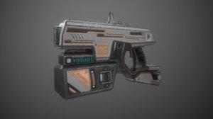 weapon pistol blaster sci fi 3D model