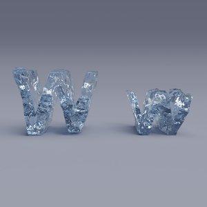 letter w model
