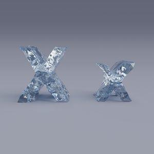 3D letter x model
