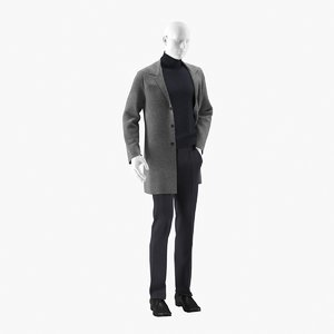 3D realistic mannequin coat model