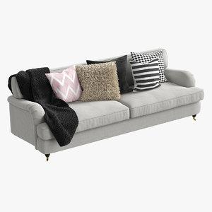 realistic classic sofa ritz 3D model