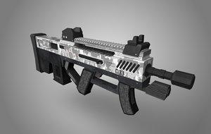 d33 assault rifle - 3D model